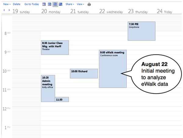 eWalk planning
