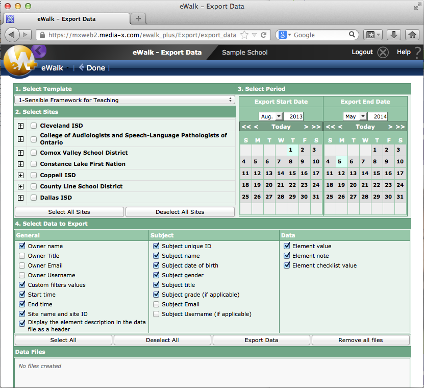 The standard export tool for eWalk.