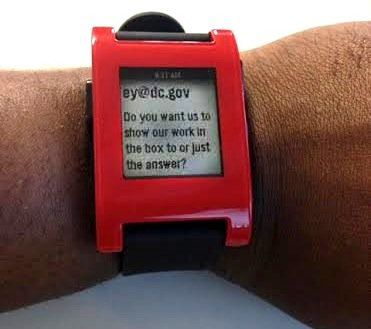 Pebble-on-wrist