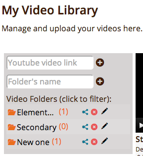 Use this menu to upload your video