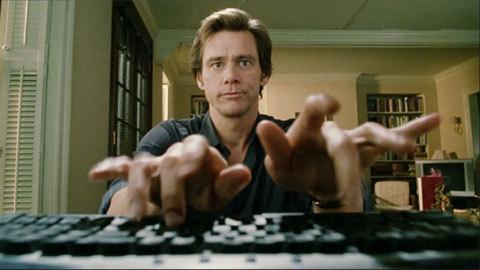 Jim Carrey Typing